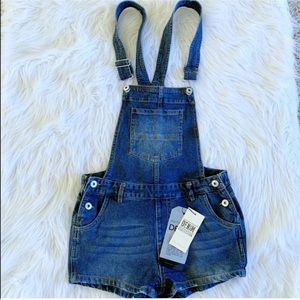 NWT Love Tree Denim Overalls Size S